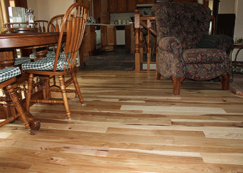 Classic Hardwood Floors, Missoula Montana, Handscraped Character Hickory  Flooring - Classic Hardwood Floors