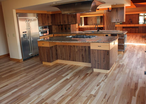 Classic Hardwood Floors stained maple hardwood floor bothell wa Common Hickory Classic Hardwood Floors Missoula Mt
