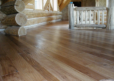 Stained Handscraped Hickory, Classic Hardwood Floors, Missoula, MT