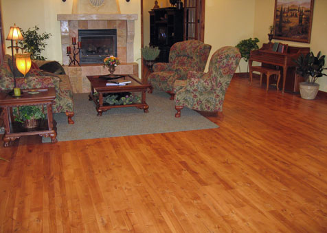 Stained Yellow Birch Flooring, Classic Hardwood Floors, Missoula, MT
